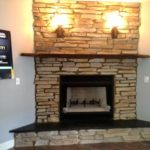 Stone construction fireplace va beach